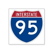 "I-95 Square Sticker 3"" x 3"""