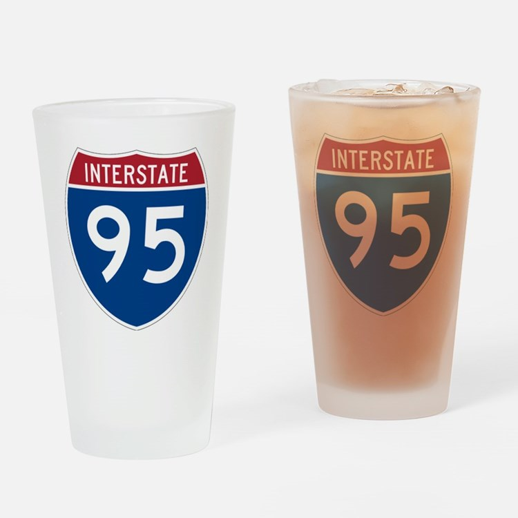 I-95 Drinking Glass