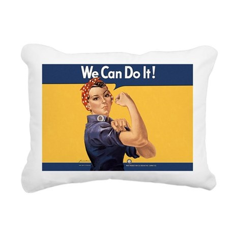 we-can-do-it-rosie_10-33 Rectangular Canvas Pillow