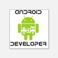 "android-developer Square Sticker 3"" x 3"""