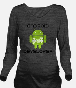 android-developer Long Sleeve Maternity T-Shirt