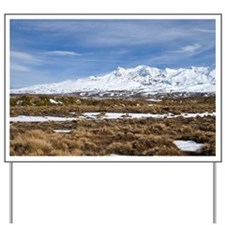Rangipo Desert and Mt Ruapehu, Central P Yard Sign