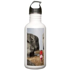 Family and Rock Format Water Bottle