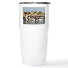 Sur. Fishermen on Sur Corniche  Travel Mug