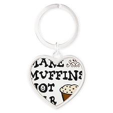 muffins war new Heart Keychain