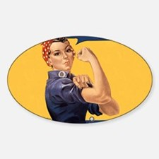 we-can-do-it-rosie_12-5x13-5h Sticker (Oval)