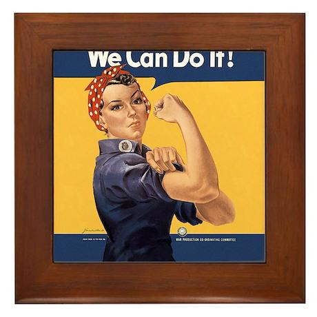 we-can-do-it-rosie_12-5x13-5h Framed Tile