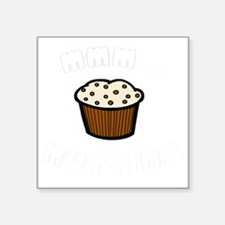 "mmm muffins 1 light Square Sticker 3"" x 3"""