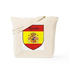 Spain Flag Crest Shield Tote Bag