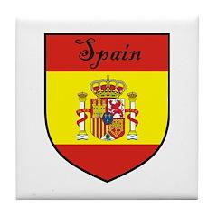 Spain Flag Crest Shield Tile Coaster