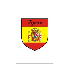 Spain Flag Crest Shield Posters