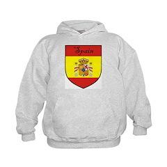 Spain Flag Crest Shield Hoodie