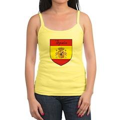 Spain Flag Crest Shield Jr.Spaghetti Strap