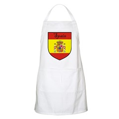 Spain Flag Crest Shield BBQ Apron