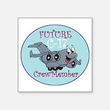 "Mil 2C C17 M Crewmbr  copy Square Sticker 3"" x 3"""