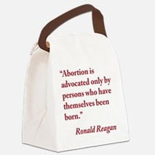 reagan-abortion-quote-square Canvas Lunch Bag
