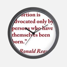 reagan-abortion-quote-square Wall Clock