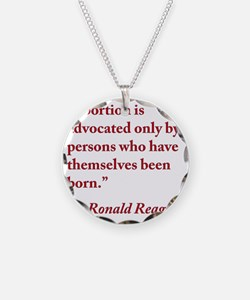 reagan-abortion-quote-square Necklace