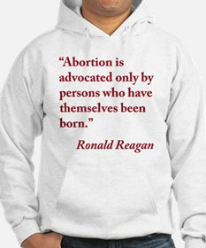 reagan-abortion-quote-square Hoodie