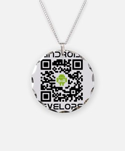 android-qr-3inch-300dpi Necklace