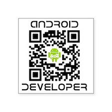 "android-qr-3inch-300dpi Square Sticker 3"" x 3"""