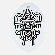 AbOriginalz Mayan Petroglyph Oval Ornament