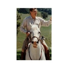 Reagan_on_horseback Rectangle Magnet