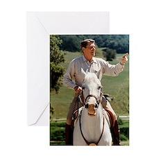 Reagan_on_horseback Greeting Card