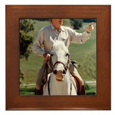 Reagan_on_horseback Framed Tile