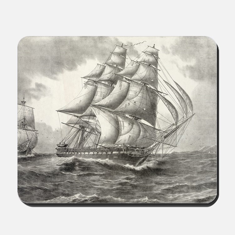 14.7x9.67_laptopSkin_USSconstitution Mousepad