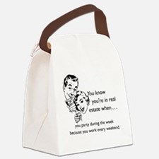 Party Like an Agent Glass Canvas Lunch Bag