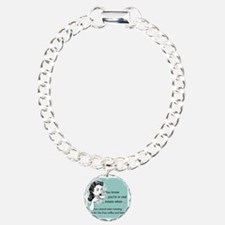 Free Food Glass Charm Bracelet, One Charm