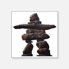 """inukshuk real png Square Sticker 3"""" x 3"""""""