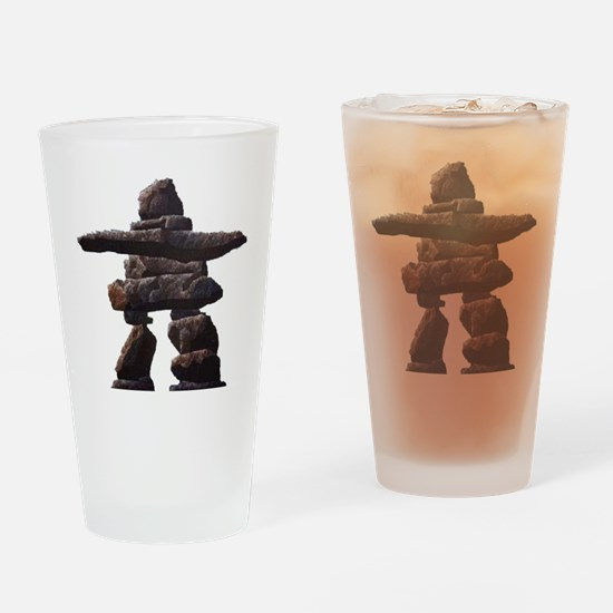 inukshuk real png Drinking Glass