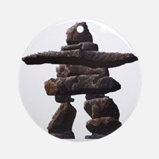 inukshuk real png Round Ornament