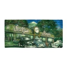 sullys_diner_scan_horizontal_200dpi Beach Towel