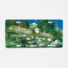 sullys_diner_scan_horizonta Aluminum License Plate