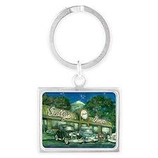 sullys_diner_scan_horizontal_20 Landscape Keychain
