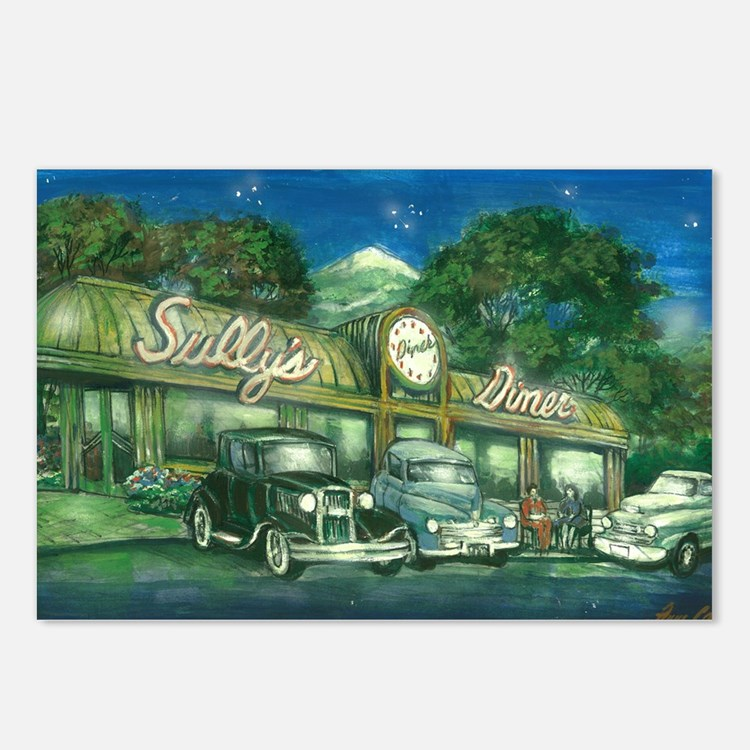 sullys_diner_scan_horizon Postcards (Package of 8)
