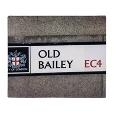 Old_bailey_sign Throw Blanket