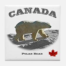 Canada-PolarBear2-1 copy Tile Coaster