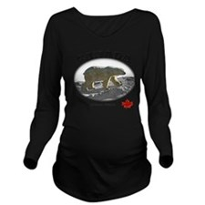 Canada-PolarBear2-1  Long Sleeve Maternity T-Shirt
