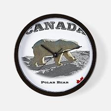 Canada-PolarBear2-1 copy Wall Clock