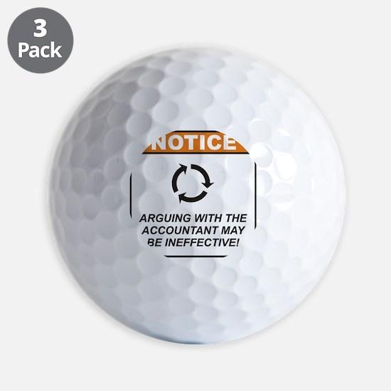 Accountant_Notice_Argue_RK2011_10x10 Golf Ball