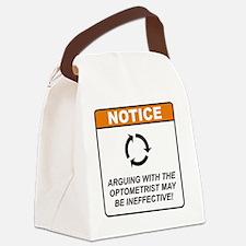Optometrist_Notice_Argue_RK2011_1 Canvas Lunch Bag