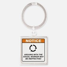 Social_Worker_Notice_Argue_RK2011_ Square Keychain