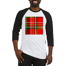 Christmas Tartan Pattern Baseball Jersey