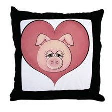 pig heart-001 Throw Pillow