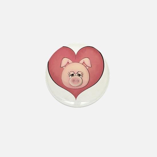 pig heart-001 Mini Button