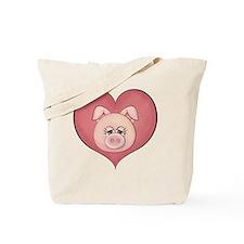 pig heart-001 Tote Bag